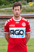 Kortrijk's Thomas Matton poses for the photographer during the 2014-2015 season photo shoot of Belgian first league soccer team KV Kortrijk, Tuesday 08 July 2014 in Kortrijk.