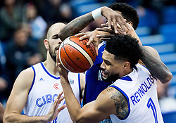 Octavius Ellis of KK Mornar vs Scott Reynolds of Cibona during basketball match between KK Cibona Zagreb (CRO) and KK Mornar (MNE) in Round #4 of FIBA Champions League 2016/17, on November 9, 2016 in Drazen Petrovic Basketball center, Zagreb, Croatia. Photo by Vid Ponikvar / Sportida