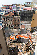 Economic growth re-development new building project in Sultanahmet historic district, Istanbul old town, Republic of Turkey