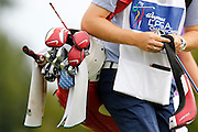 ASHLEIGH SIMON'S Nike bag and clubs at the LPGA Championship at Monroe Golf Club in Pittsford, New York on August 16, 2014.