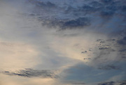 Formation of stratocumulus clouds in the early evening sky