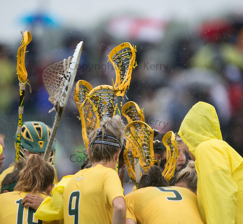 Australia try to rally the troops before the start of extra time against England in the bronze medal match at the 2017 FIL Rathbones Women's Lacrosse World Cup, at Surrey Sports Park, Guildford, Surrey, UK, 22nd July 2017.