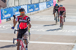 Sprint to victory. Van Avermaet get the win, Velodrome de Roubaix 2017 Paris-Roubaix, France, 9 April 2017, Photo by Thomas van Bracht / Peloton Photos, 2017 Paris-Roubaix, France, 9 April 2017, Photo by Thomas van Bracht / Peloton Photos