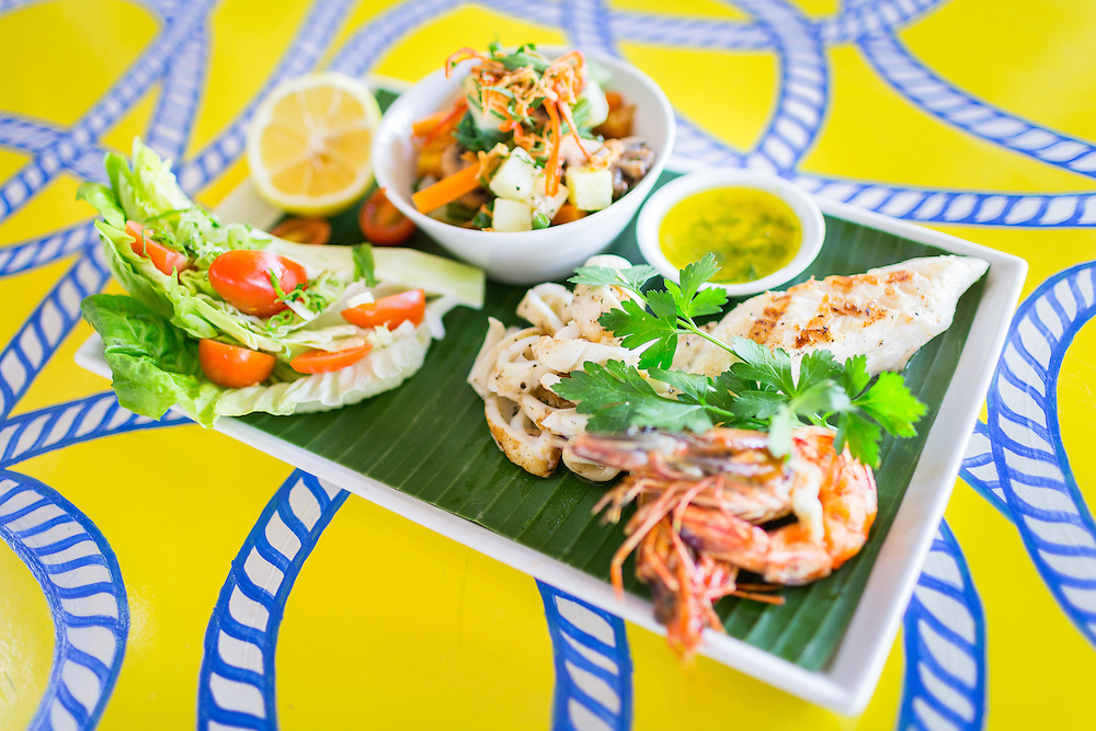 Seafood mixed grill:<br />