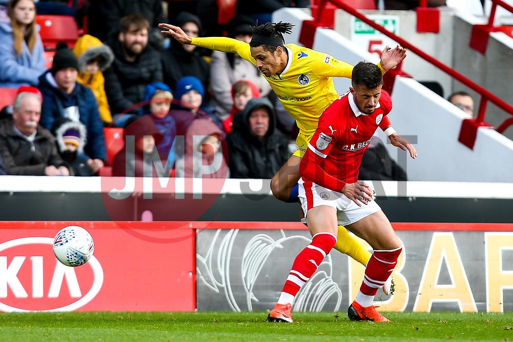Daniel Leadbitter of Bristol Rovers takes on Daniel Pinillos of Barnsley - Mandatory by-line: Robbie Stephenson/JMP - 27/10/2018 - FOOTBALL - Oakwell Stadium - Barnsley, England - Barnsley v Bristol Rovers - Sky Bet League One