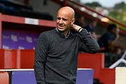 Exeter City manager Paul Tisdale before the EFL Sky Bet League 2 match between Exeter City and Lincoln City at St James' Park, Exeter, England on 19 August 2017. Photo by Graham Hunt.