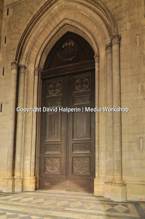 Orleans cathedral arched door