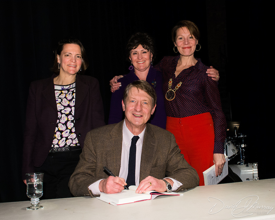 P. J. O'Rourke during a backstage book signing after speaking at a Writers on a New England Stage show at The Music Hall in Portsmouth, NH