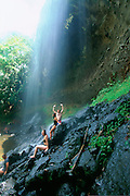 Ngardmau Waterfall, Babeldaob, Palau, Micronesia, (editorial use only- no model release)<br />