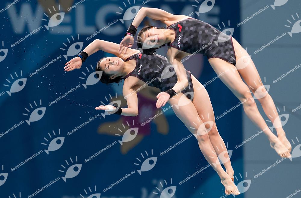 ARAI Matsuri SASAKI Nana JPN<br /> Diving<br /> Women's 1om platform final<br /> 16/07/2017 <br /> XVII FINA World Championships Aquatics<br /> Duna Arena<br /> Photo @ Giorgio Perottino/Deepbluemedia/Insidefoto