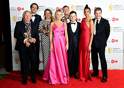 Declan Donnelly, Alesha Dixon and Amanda Holden collect the award for Best Entertainment programme for Britain's Got Talent in the press room at the Virgin TV British Academy Television Awards 2018 held at the Royal Festival Hall, Southbank Centre, London.