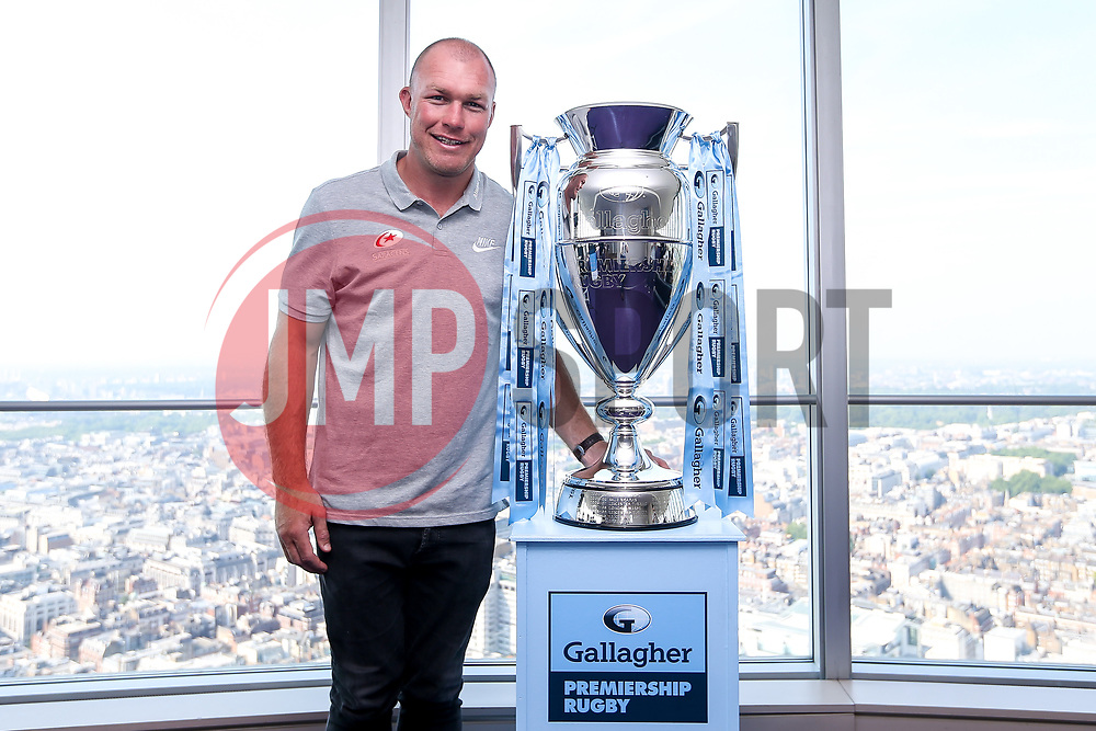 Stalk Burger of Saracens at the launch of the 2018/19 Gallagher Premiership Rugby Season Fixtures - Mandatory by-line: Robbie Stephenson/JMP - 06/07/2018 - RUGBY - BT Tower - London, England - Gallagher Premiership Rugby Fixture Launch
