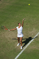 LONDON, ENGLAND - Tuesday, June 22, 2010: Heather Watson (GBR) during the Ladies' Singles 1st Round on day two of the Wimbledon Lawn Tennis Championships at the All England Lawn Tennis and Croquet Club. (Pic by David Rawcliffe/Propaganda)