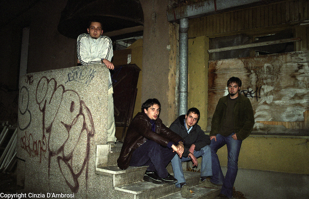 Vedad, Davor,Vedad,Faruk in Sarajevo. Unlikely they would be friends some time ago, this group of friends formed a music group. All the members of this group have a cultural background that differs from the other starting from religious.beliefs; from Catholic, Muslim, Orthodox.