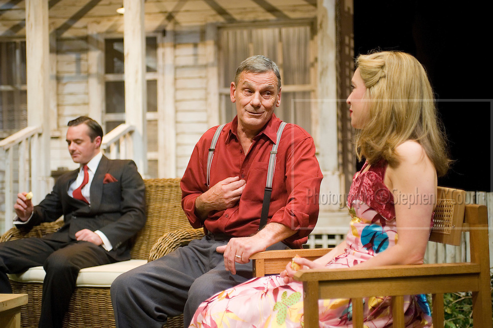 L-R, Richard Dey, Jeffrey Thomas, Jessica Robinson. Arthur Miller's All My Sons, at Circa Theatre, Wellington, NZ, June-July 2012. Directed by Susan Wilson.