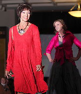 Models  Lynne Dorn (left) and Susan Allen on the runway during A'Wear Affair, the Noble Circle fundraising fashion show, at Sinclair College's David H. Ponitz Center, Saturday, February 23, 2013.  Dorn is an original member of Group 1, thriving over 10 years beyond breast cancer. Allen has been thriving a total of six years, beyond occurences of bladder cancer in 2007, 2010, 2012; melanoma in 2006 and 2012, and breast cancer in 2010.
