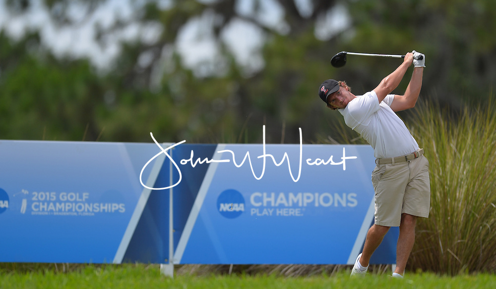 Matias Dominguez during the first round of the NCAA Golf Championships at the Concession Golf Club in Bradenton, FL.