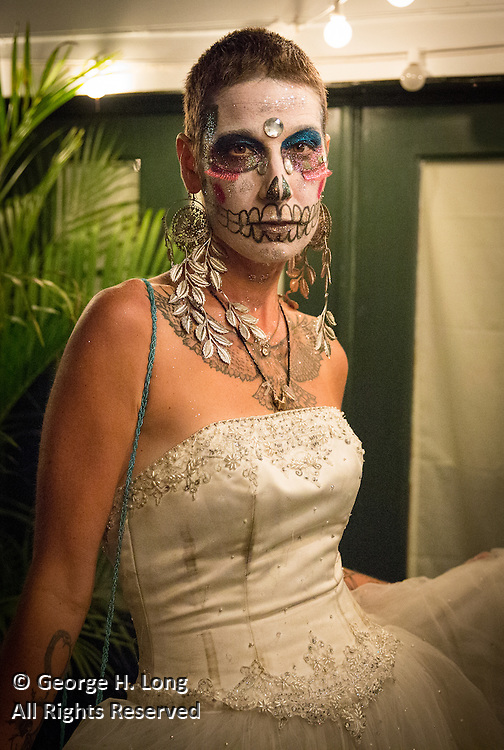 Marcela Liniero Singleton at Halloween Ball at Wonderland, home of Stacy Hoover, in the Bywater neighborhood; October 29, 2015