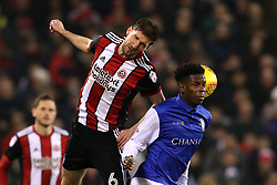 Chris Basham of Sheffield United challenges Lucas Joao of Sheffield Wednesday - Mandatory by-line: Robbie Stephenson/JMP - 12/01/2018 - FOOTBALL - Bramall Lane - Sheffield, England - Sheffield United v Sheffield Wednesday - Sky Bet Championship
