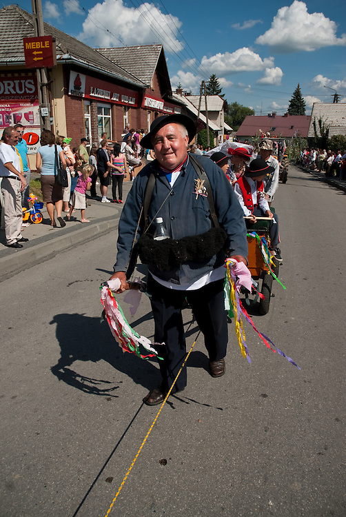 Annual harvest festival in the Silesian town of Goleszów, southern Poland. Harvest festivals are held throughout Poland from mid August through to early September, after all important field work has ended and crops have been gathered.