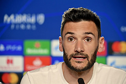 MADRID, SPAIN - Friday, May 31, 2019: Tottenham Hotspur's goalkeeper Hugo Lloris during a press conference ahead of the UEFA Champions League Final match between Tottenham Hotspur FC and Liverpool FC at the Estadio Metropolitano. (Pic by Handout/UEFA)