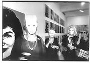 Kathleen Zimbimcki, Adrienne Heinrich, Eleanor Kriedberg. Andy Warhol Masks© Copyright Photograph by Dafydd Jones 66 Stockwell Park Rd. London SW9 0DA Tel 020 7733 0108 www.dafjones.com