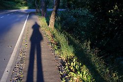 VIANDEN, LUXEMBOURG - SEPT-9-2012 - Where the bike path meets the road In Vianden, near the German border..(Photo © Jock Fistick)