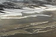 Winterse luchtfoto Waddenkwelders Noord-Friesland Buitendijks