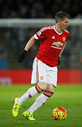 Bastian Schweinsteiger of Manchester United in action  - Mandatory byline: Jack Phillips/JMP - 07966386802 - 28/11/2015 - SPORT - FOOTBALL - Leicester - King Power Stadium - Leicester City v Manchester United - Barclays Premier League