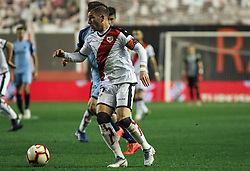 March 1, 2019 - Madrid, Madrid, Spain - Embarba of Rayo Vallecano in action during La Liga Spanish championship, , football match between Rayo Vallecano and Girona , March 01th, in Estadio de Vallecas in Madrid, Spain. (Credit Image: © AFP7 via ZUMA Wire)