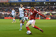 Nottingham Forest forward Joe Lolley (23) during the EFL Sky Bet Championship match between Nottingham Forest and Barnsley at the City Ground, Nottingham, England on 24 April 2018. Picture by Jon Hobley.