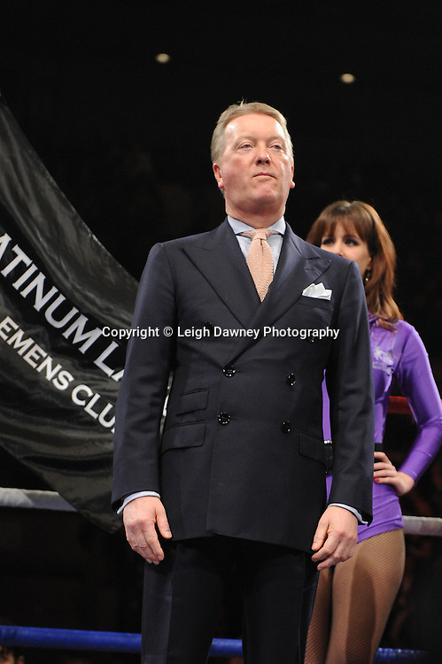 """Frank Warren (Promoter) at the Echo Arena, Liverpool,11th December 2010,Frank Warren.tv Promotions """"Return Of The Magnificent Seven"""" © Photo Leigh Dawney"""