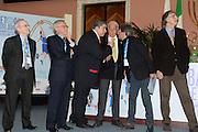 DESCRIZIONE : Roma Basket Day Hall of Fame 2013<br /> GIOCATORE : Mimmo Cacciuni Valerio Bianchini Gianni Ippoliti Alessandro Gamba Valerio Bianchini<br /> SQUADRA : FIP Federazione Italiana Pallacanestro <br /> EVENTO : Basket Day Hall of Fame 2013<br /> GARA : Roma Basket Day Hall of Fame 2013<br /> DATA : 09/12/2013<br /> CATEGORIA : Premiazione<br /> SPORT : Pallacanestro <br /> AUTORE : Agenzia Ciamillo-Castoria/GiulioCiamillo