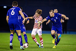 Luka Modric of Croatia and Kyriakos Papadopoulos of Greece during the football match between National teams of Croatia and Greece in First leg of Playoff Round of European Qualifiers for the FIFA World Cup Russia 2018, on November 9, 2017 in Stadion Maksimir, Zagreb, Croatia. Photo by Ziga Zupan / Sportida