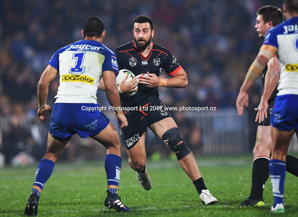 Ben Matulino.<br /> Vodafone Warriors v  Canterbury Bulldogs. NRL Rugby League. Mt Smart Stadium, Auckland, New Zealand. Friday 23 June 2017 &copy; Copyright Photo: Andrew Cornaga / www.Photosport.nz