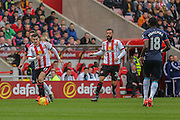 Sunderland midfielder Adam Johnson on a run  during the Barclays Premier League match between Sunderland and Newcastle United at the Stadium Of Light, Sunderland, England on 25 October 2015. Photo by Simon Davies.