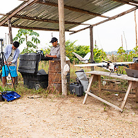 The CINCIA drone team works on location, setting up office in former miners' shelters in La Pampa as they fly grids over the entire area to create 3-D maps of the landscape. Following Peru's February 2019 militarized crackdown on illegal and unofficial alluvial gold mining in the La Pampa region of Madre de Dios, Wake Forest University's Puerto Maldonado-based Centro de Innovación Científica Amazonia (CINCIA), a leading research institution for the development of technological innovation for biological conservation and environmental restoration in the Peruvian Amazon, is applying years of scientific research and technical experience related to understanding mercury contamination and managing Amazonian ecosystems. What they learn will help guide urgent remediation, restoration, and reforestation efforts that can also serve as models for how we address the tropic's most dramatically devastated landscapes around the world. La Pampa, Madre de Dios, Peru.