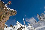 Sidecountry skiing off Sugar Bowl. Sierra Nevada, Lake Tahoe