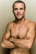 LONG BEACH, CALIFORNIA, OCTOBER 31, 2013: Pat Curran poses for a portrait inside the Westin hotel in Long Beach, California ahead of their fight at Bellator CVI (© Martin McNeil)