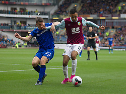Seamus Coleman of Everton (L) and Dwight McNeil of Burnley in action - Mandatory by-line: Jack Phillips/JMP - 05/10/2019 - FOOTBALL - Turf Moor - Burnley, England - Burnley v Everton - English Premier League