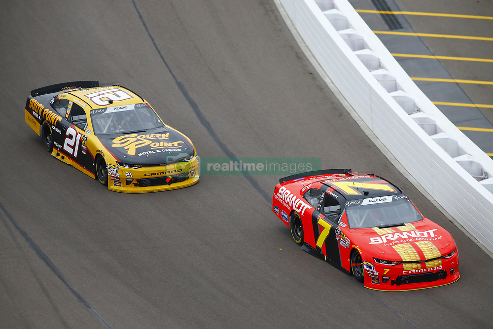March 10, 2018 - Avondale, Arizona, United States of America - March 10, 2018 - Avondale, Arizona, USA: Justin Allgaier (7) and Daniel Hemric (21) battle for position during the DC Solar 200 at ISM Raceway in Avondale, Arizona. (Credit Image: © Chris Owens Asp Inc/ASP via ZUMA Wire)