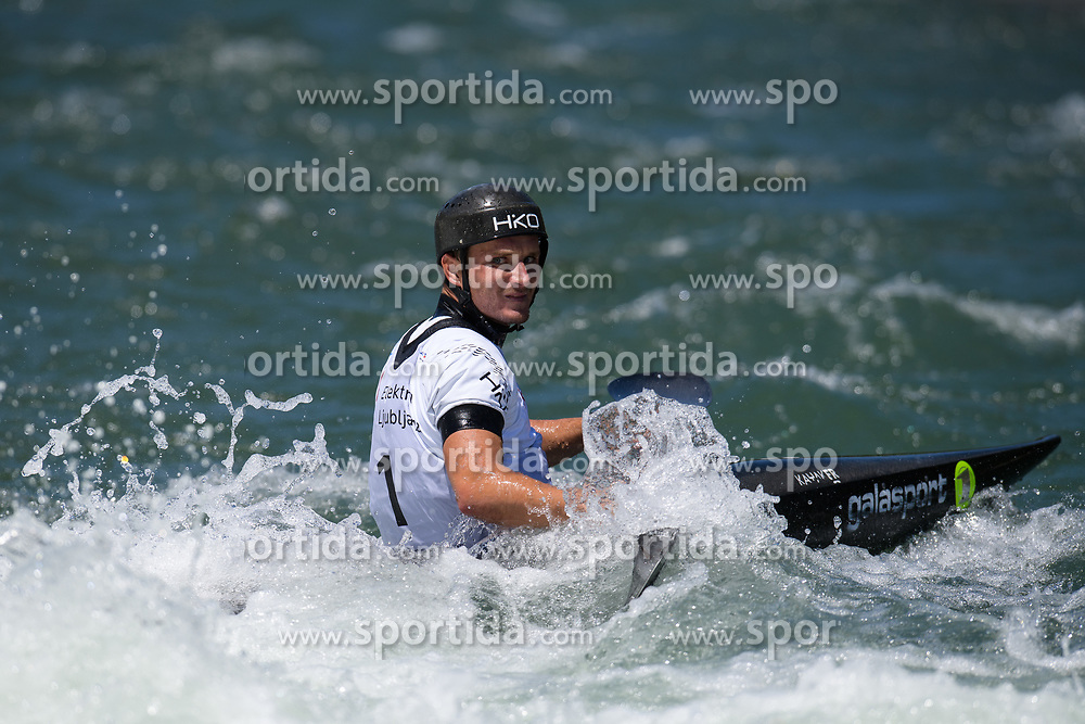Vit PRINDIS of Czech Republic during the Kayak Single (K1) Men Final race of 2019 ICF Canoe Slalom World Cup 4, on June 30, 2019 in Tacen, Ljubljana, Slovenia. Photo by Sasa Pahic Szabo / Sportida