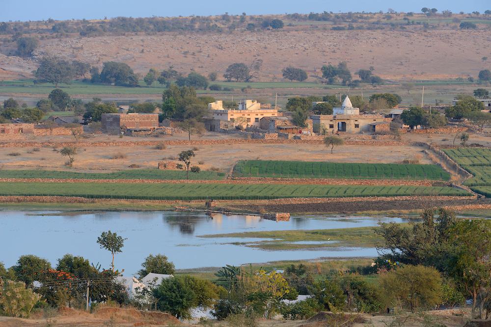 Bangarh Lake near Bijaipur, Rajasthan,India,Asia.