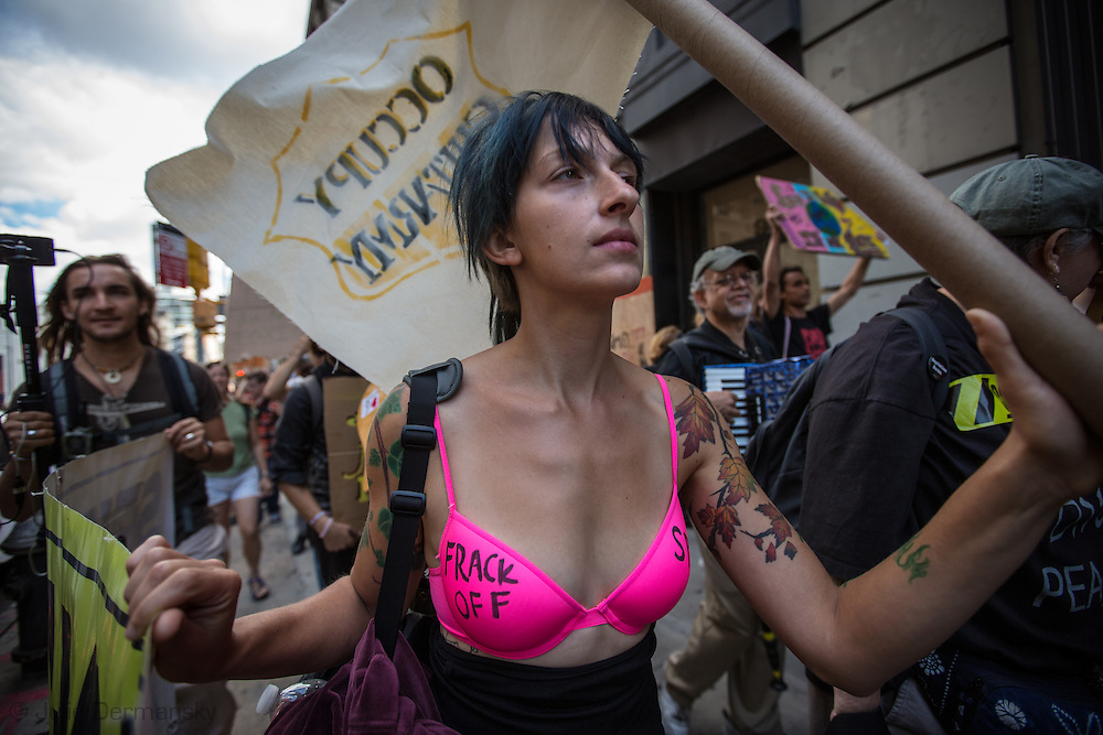 New York City, NY, Spetember, 16th, Lauren Leonardi, Marches with Occupy Wall Street.