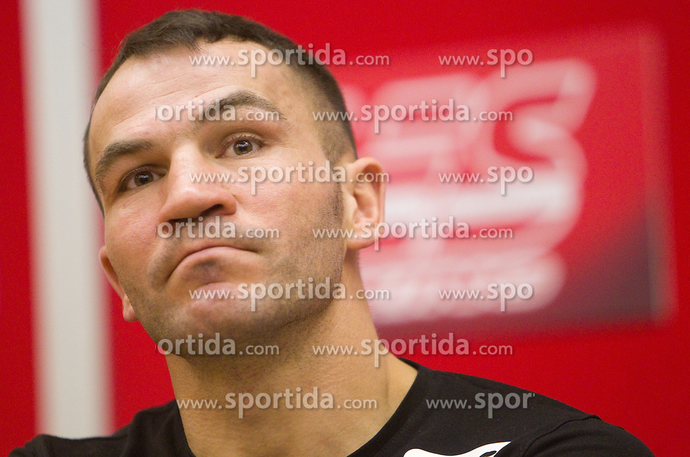 Dejan Zavec at press conference of boxers IBF World Champion Dejan Zavec - Jan Zaveck (SLO) and Paul Delgado (USA) before their WTC IBF Match, on February 14, 2011 in Ljubljana, Slovenia. (Photo By Vid Ponikvar / Sportida.com)