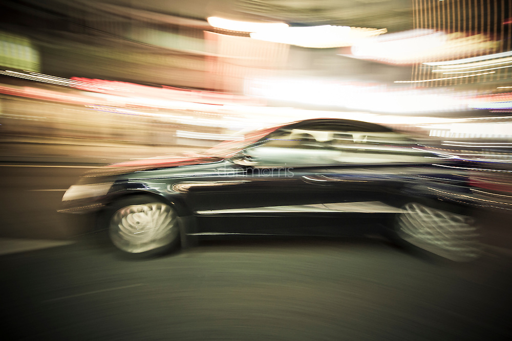 Mercedes driving along Bukit Binthang, Kuala Lumpur