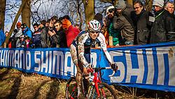 Christian HELMIG (60,LUX), 4th lap at Men UCI CX World Championships - Hoogerheide, The Netherlands - 2nd February 2014 - Photo by Pim Nijland / Peloton Photos