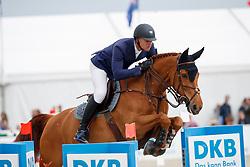MATHY Francois Jr (BEL), Falco van de Clehoeve<br /> Hagen - Horses and Dreams meets the Royal Kingdom of Jordan 2018<br /> Finale Mittlere Tour<br /> 29. April 2018<br /> www.sportfotos-lafrentz.de/Stefan Lafrentz