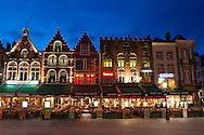 Markt square, Bruges, West Flanders, Belgium