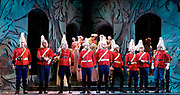 Patience <br /> by Gilbert and Sullivan<br /> English Touring Opera <br /> Hackney Empire <br /> Hackney, London, Great Britain <br /> Rehearsals <br /> 7th March 2017 <br /> <br /> company <br /> <br /> <br /> Photograph by Elliott Franks <br /> Image licensed to Elliott Franks Photography Services